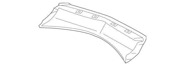 2010-2013 Acura MDX 5-DOOR Garnish, Rear Hitch 71508-STX