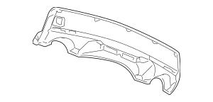 2007-2009 Acura MDX 5-DOOR Garnish, Rear Bumper Face Skid
