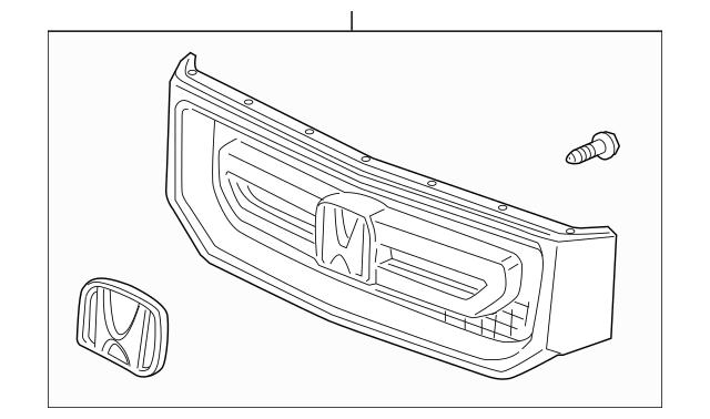 2014 Honda RIDGELINE SEDAN Grille Assembly, Front *NH533