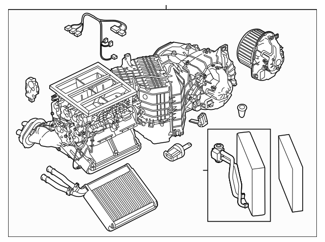 Porsche AC & Heater Assembly (958-572-301-05) For Sale