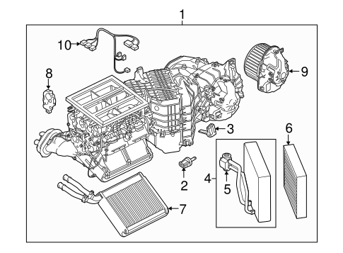 Evaporator & Heater Components for 2015 Porsche Cayenne