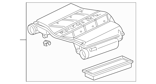 Genuine Mercedes-Benz Air Cleaner Assembly 112-090-11-01