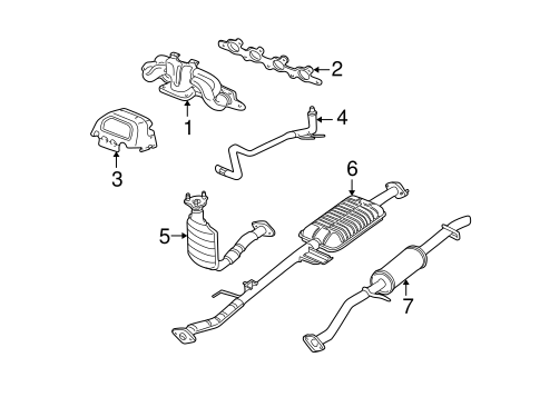 exhaust components for 2005 ford escape