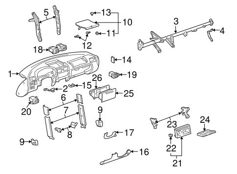 INSTRUMENT PANEL for 2004 Toyota MR2 Spyder