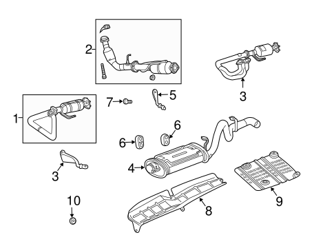 EXHAUST COMPONENTS for 2004 Jeep Wrangler