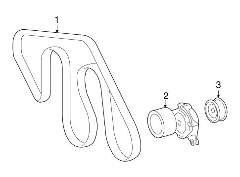 Genuine OEM Belts & Pulleys Parts for 2010 Toyota Land