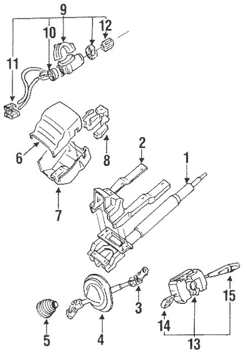 Steering Column Assembly for 1997 Mitsubishi 3000GT