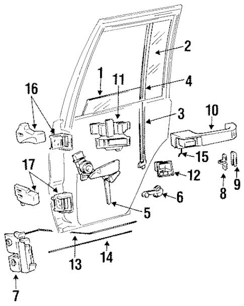 REAR DOOR for 1995 Jeep Grand Cherokee