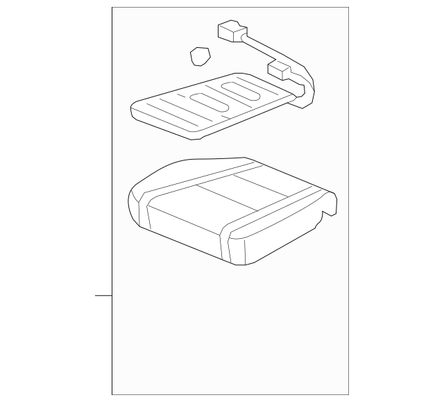 2009-2014 Honda RIDGELINE SEDAN Pad, L Front Seat Cushion