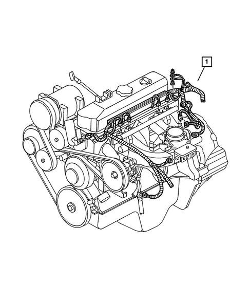 Wiring-Engine & Related Parts for 2003 Dodge Dakota