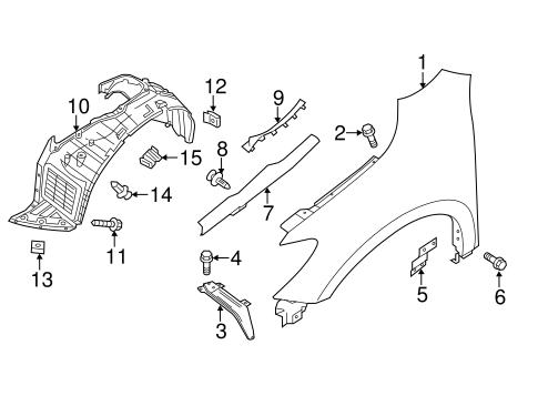 Fender & Components for 2015 Nissan Pathfinder