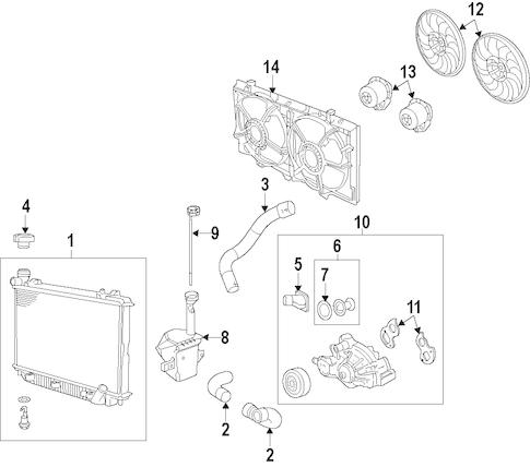 OEM 2011 Chevrolet Caprice Radiator & Components Parts
