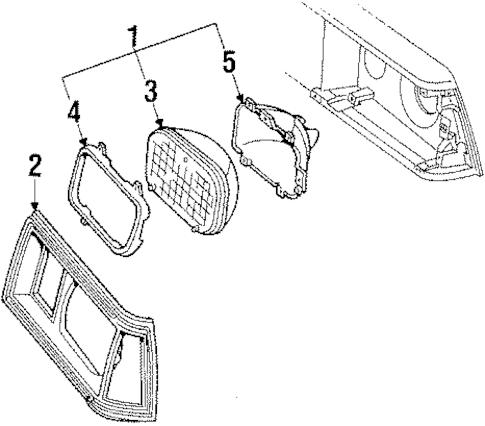 Headlamp Components for 1985 Chevrolet El Camino