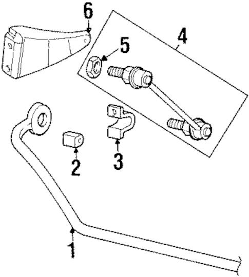 STABILIZER BAR & COMPONENTS for 2000 Saturn SC2 (Base)