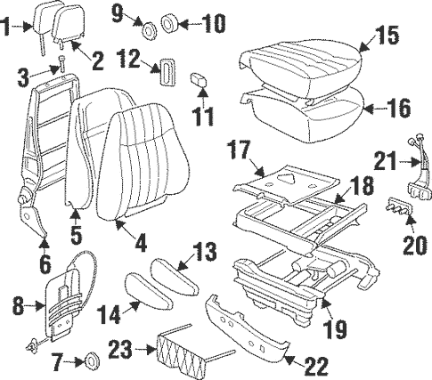 Front Seat Components for 1997 Oldsmobile Silhouette