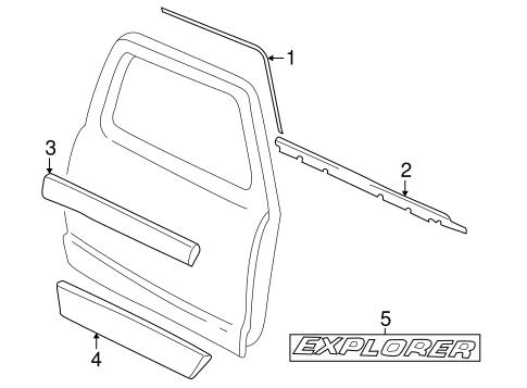 2001-2005 Ford Explorer Sport Trac Chrome Door Tailgate