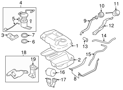 FUEL SYSTEM COMPONENTS for 2008 Ford Escape