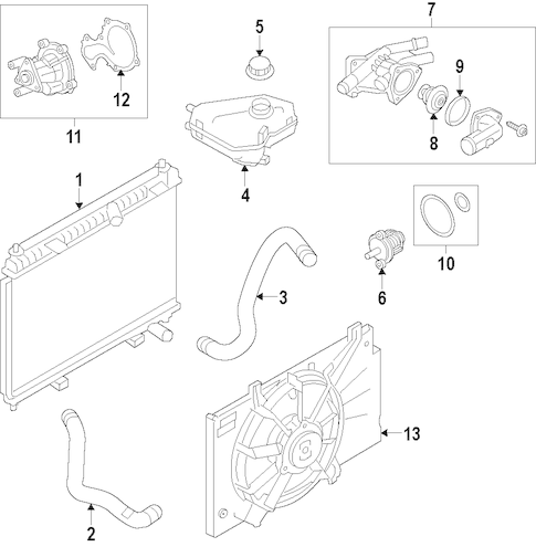 Cooling System for 2015 Ford Fiesta