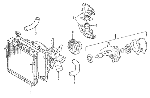 Genuine OEM Cooling System Parts for 1994 Toyota Pickup