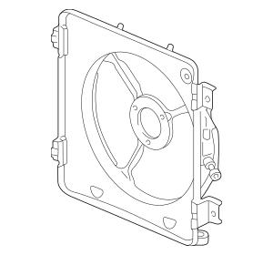 1996-2000 Honda Shroud, Condenser Fan 80161-S04-000