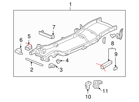 Frame & Components for 2004 Chevrolet Suburban 1500