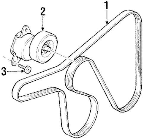 BELTS & PULLEYS for 1998 Ford Contour