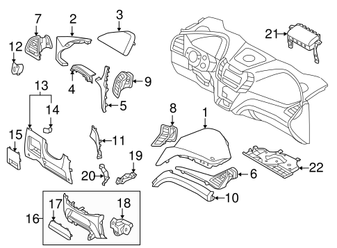 Instrument Panel Components for 2017 Hyundai Santa Fe