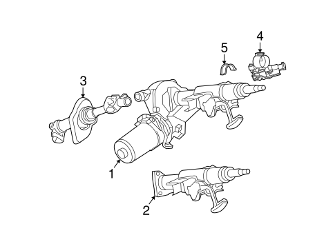 Steering Column Assembly for 2006 Saturn Ion