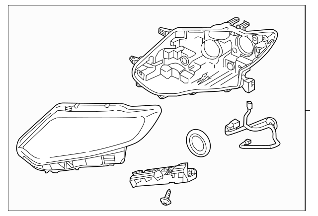 2015-2016 Nissan Rogue Headlamp Assembly 26010-4BA7B