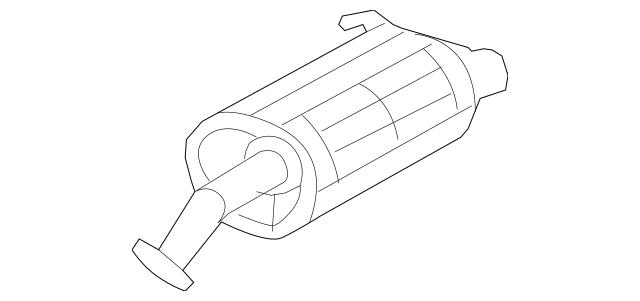 2007-2009 Honda CR-V 5-DOOR Muffler, Ex 18307-SXS-A01