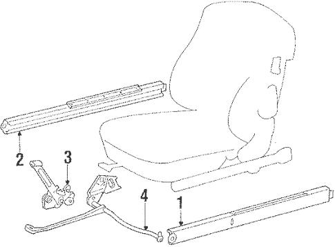 Seats & Track Components for 1988 Mercedes-Benz 560 SL