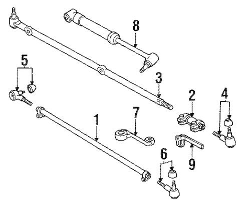 STEERING LINKAGE for 1995 Jeep Wrangler