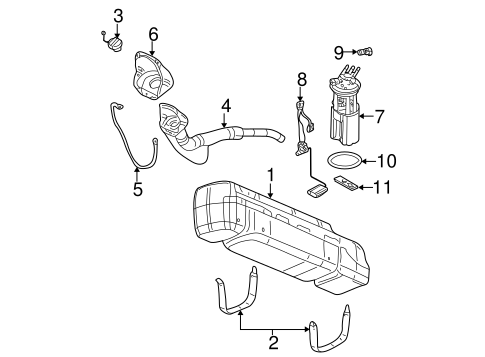 Fuel System Components for 2006 Chevrolet Silverado 1500