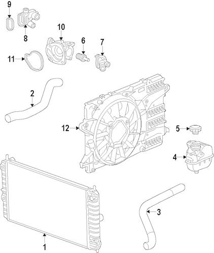 OEM 2016 Chevrolet Malibu Cooling System Parts