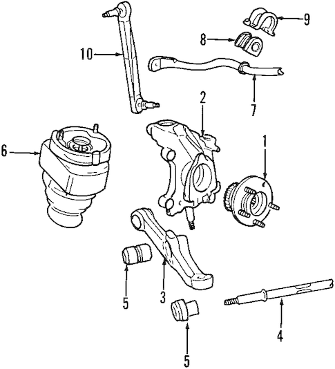 Front Suspension for 1999 Lincoln Continental