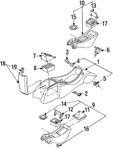 Center Console for 1994 Pontiac Firebird (Trans Am