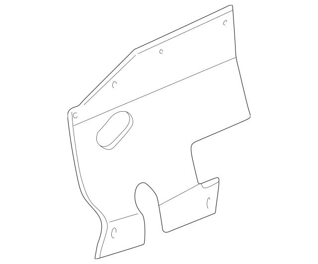 1997-2004 Mitsubishi Montero Sport Splash Shield MR144708