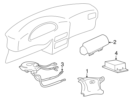 AIR BAG COMPONENTS for 2005 Hyundai Accent