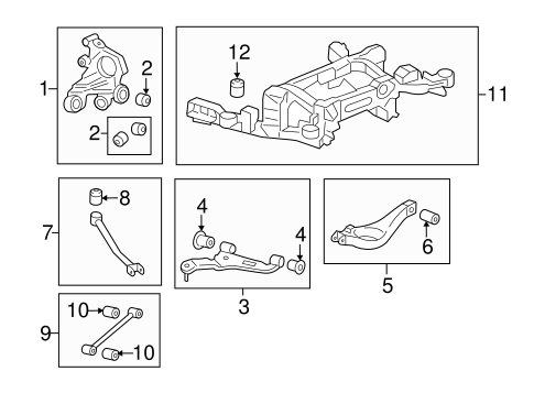OEM 2011 Cadillac CTS Rear Suspension Parts