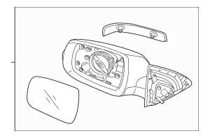 2014-2015 Kia Sorento Mirror Assembly 87610-1U510