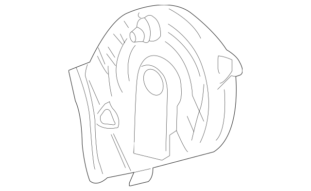 Genuine OEM Cover, L Timing Belt (Upper) Part# 11820-P5A