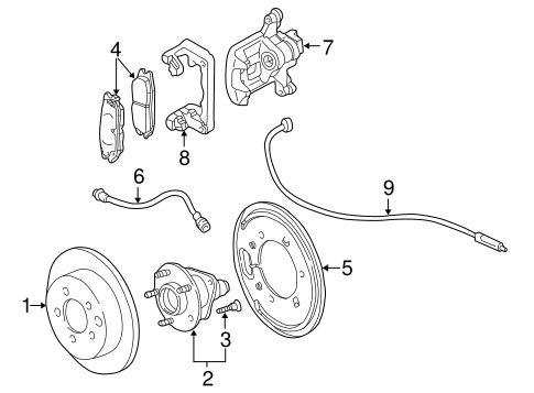 REAR BRAKES for 2004 Buick Century (Limited)