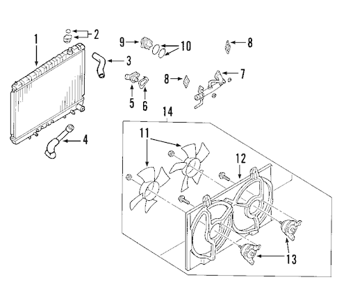 RADIATOR & COMPONENTS for 2007 Nissan Maxima