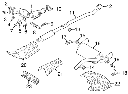 exhaust components for 2017 ford focus
