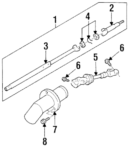 SHAFT & INTERNAL COMPONENTS for 1999 Chevrolet Monte Carlo