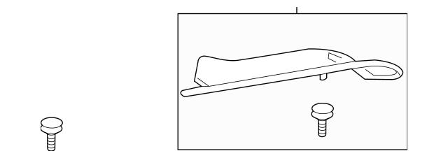 2010-2013 Acura ZDX 5-DOOR Garnish, L Rear Gutter (Lower