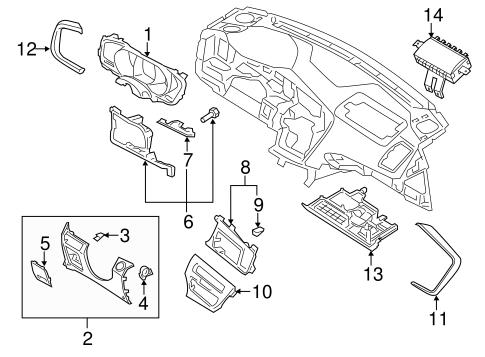 Instrument Panel Components for 2012 Kia Optima