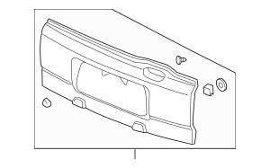 2005-2006 Honda ELEMENT 5-DOOR Cladding, Tailgate (Lower