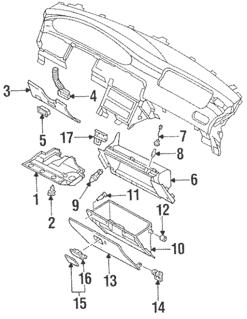 Instrument Panel Components for 1993 Mazda 626