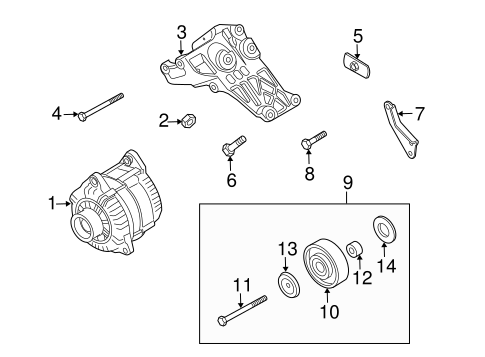 Belts & Pulleys for 2015 Nissan Armada